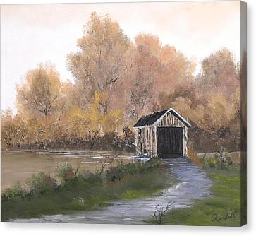 Covered Bridge Canvas Print by Randall Brewer