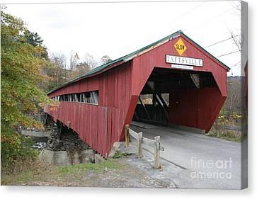 Covered Bridge Taftsville Canvas Print