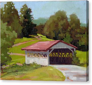 Covered Bridge Canvas Print by Todd Baxter