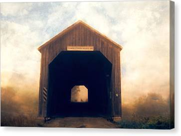 Tracy Munson Canvas Print - Covered Bridge by Tracy Munson
