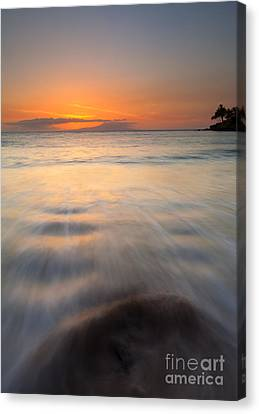 Covered By The Tides Canvas Print by Mike  Dawson