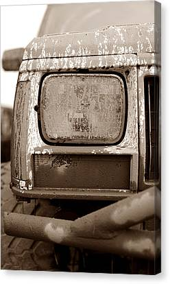 Covered In Mud Canvas Print by Luke Moore