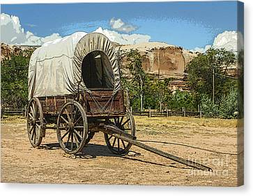 Covered Wagon Canvas Print by Patricia Hofmeester