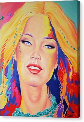 Covergirl Canvas Print by Hans Doller