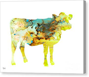 Cow 3 Canvas Print by Watercolor Girl
