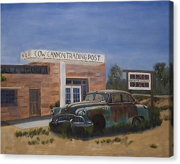 Canvas Print - Cow Canyon Trading Post by Jack Atkins