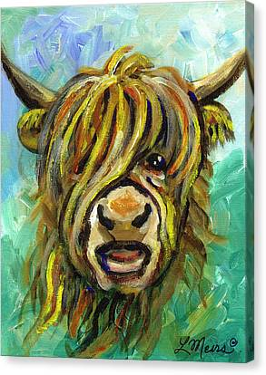 Cow Face 101 Canvas Print by Linda Mears