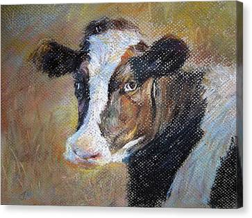 Canvas Print featuring the painting cow by Jieming Wang