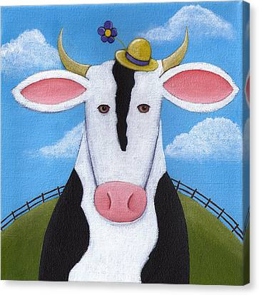 Heifer Canvas Print - Cow Nursery Wall Art by Christy Beckwith