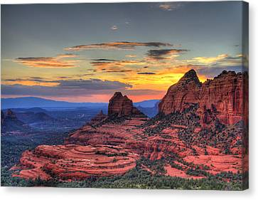 Cow Pies Sunset Canvas Print