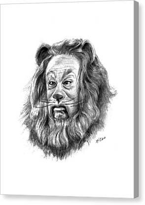Cowardly Lion Canvas Print by Lou Ortiz