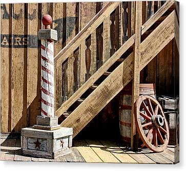 Cowboy Barbershop Canvas Print