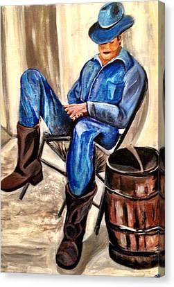 Cowboy Blue Canvas Print by Melanie Wadman