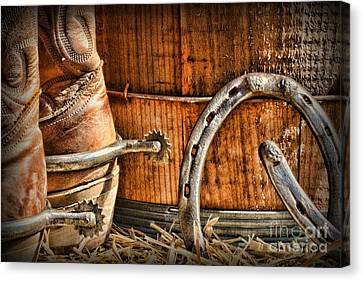 Cowboy Boots And Spurs Canvas Print