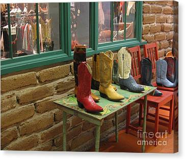 Canvas Print featuring the photograph Cowboy Boots by Dora Sofia Caputo Photographic Art and Design