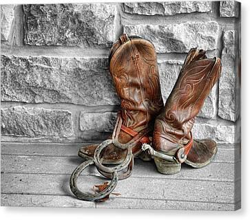 Cowboy Boots Canvas Print by Sami Martin