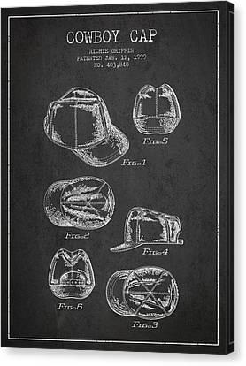Cap Canvas Print - Cowboy Cap Patent - Charcoal by Aged Pixel