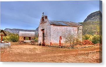 Cowboy Church Canvas Print by Tap On Photo