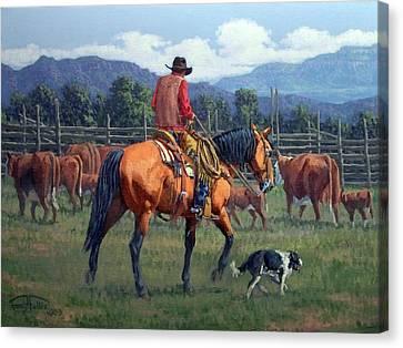 Cowboy Crew Canvas Print