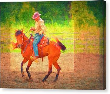 Cowboy Dance Canvas Print by Alice Gipson