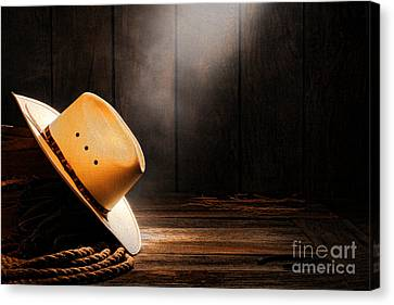 Cowboy Hat In Sunlight Canvas Print