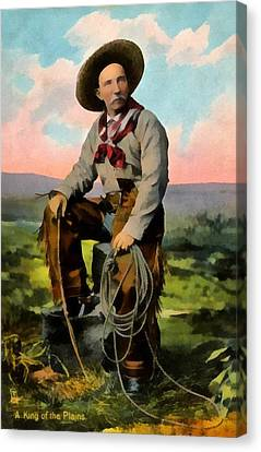 Cowboy King Of The Plains Canvas Print by Raphael Tuck And Sons