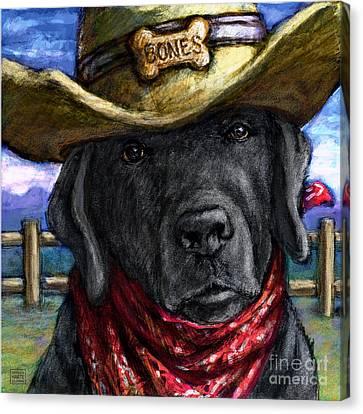 Cowboy Lab - Black Canvas Print