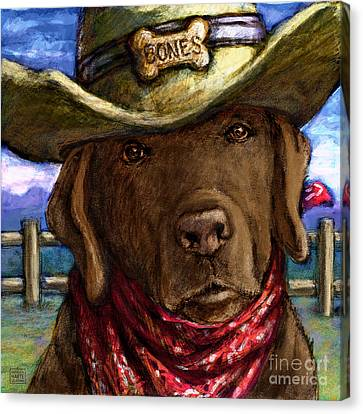 Cowboy Lab - Chocolate Canvas Print