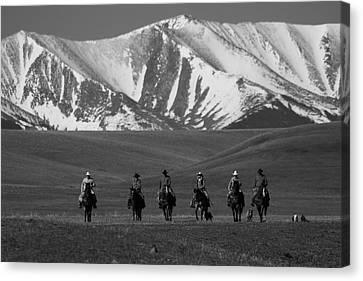 Cowboy Ride Canvas Print
