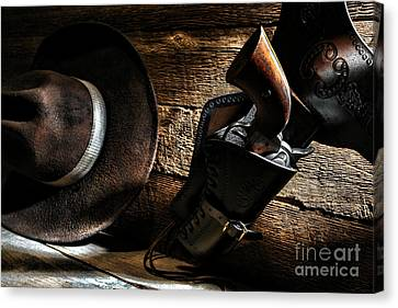 Cowboy Safety Canvas Print