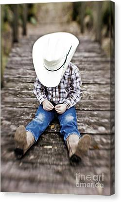 Cowboy Canvas Print by Scott Pellegrin