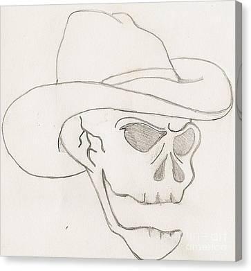 Cowboy Skull Canvas Print by Scott Williams