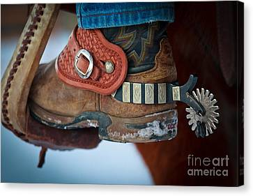 Cowboy Spurs Canvas Print by Inge Johnsson