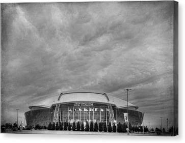 Cowboy Stadium Bw Canvas Print by Joan Carroll
