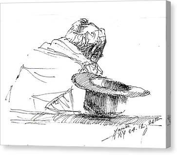 Cowboy Taking A Break  Canvas Print by Ylli Haruni