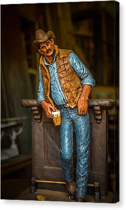 Smokey Mountain Drive Canvas Print - Cowboy by Todd Reese