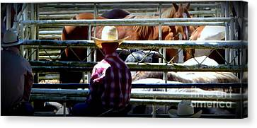 Canvas Print featuring the photograph Cowboys Corral by Susan Garren