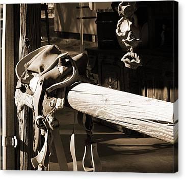 Cowboy's Saddle Canvas Print