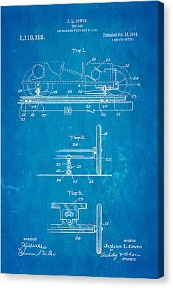 Cowen Toy Car Patent Art 1913 Blueprint Canvas Print by Ian Monk