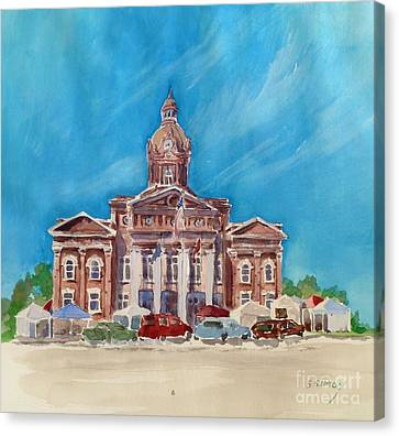 Coweta County Courthouse Painting Canvas Print by Sally Simon
