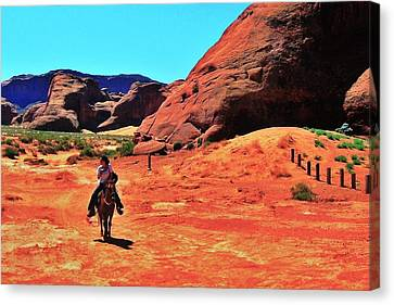 Arizona Cowgirl Canvas Print - Cowgirl 2 by Benjamin Yeager