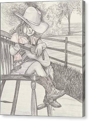Cowgirl Melody Canvas Print