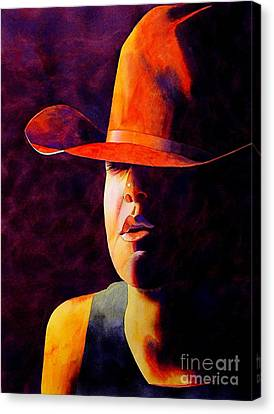 Cowgirl Canvas Print by Robert Hooper