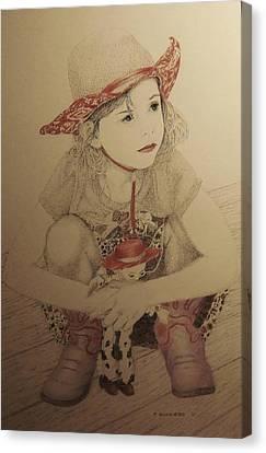 Cowgirl Canvas Print