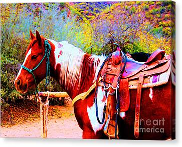 Cowgirl Up Canvas Print by Tap On Photo