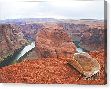 Cowgirl's Trails End Canvas Print