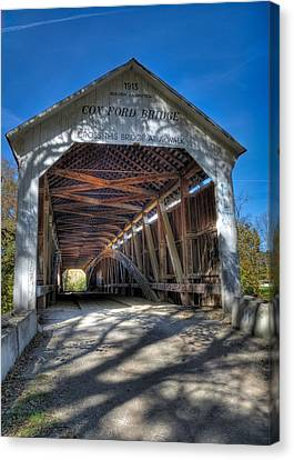 Cox Ford Covered Bridge Canvas Print by Alan Toepfer