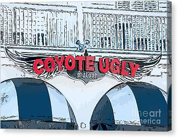 Ports Canvas Print - Coyote Ugly Key West - Digital by Ian Monk