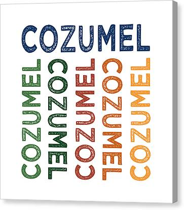Cozumel Cute Colorful Canvas Print