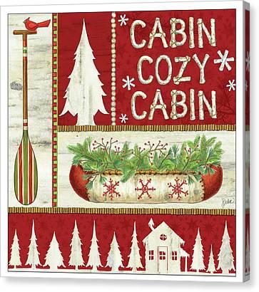 Cozy Cabin Canvas Print by Jacqueline Decker